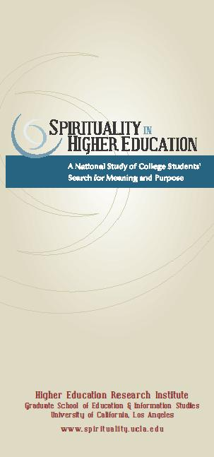 Spirituality & Higher Education Brochure